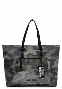 SURI FREY Shopper SURI Black Label Tessy groß Grün 16052989 oliv-camouflage 989