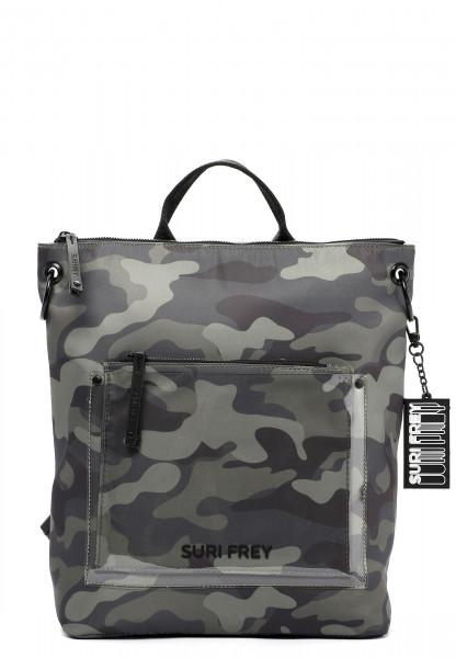 SURI FREY Rucksack SURI Black Label Tessy groß Grün 16053989 oliv-camouflage 989