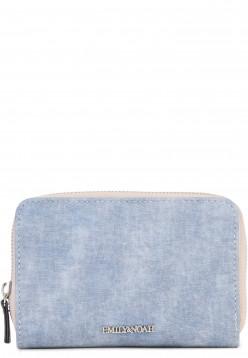 EMILY & NOAH Geldbörse mit Reißverschluss Laura Blau 62007500 blue 500
