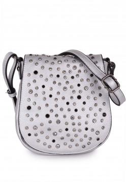 merch mashiah Handtasche mit Überschlag Marilyn Silber 80002830-1790 silver 830