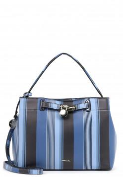 Tamaris Beutel Astrid mittel Blau 30350591 blue-stripes 591