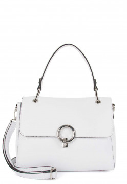 EMILY & NOAH Handtasche mit Überschlag Linda mittel Weiß 62112300 white 300