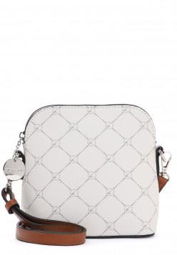 Tamaris Handtasche mit Reißverschluss Anastasia klein Grau 30100320 ecru 320