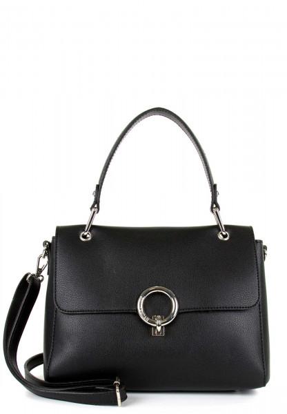 EMILY & NOAH Handtasche mit Überschlag Linda mittel Schwarz 62112100 black 100