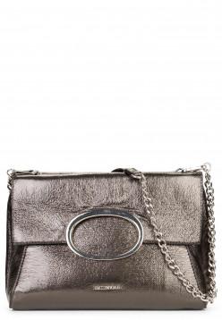 EMILY & NOAH Handtasche mit Überschlag Sarah-Lack Silber 61782833 darksilver 833