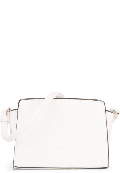 Sina Jo Handtasche mit Reißverschluss Jasmin klein Weiß 610300 white 300