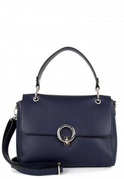 EMILY & NOAH Handtasche mit Überschlag Linda mittel Blau 62112500 blue 500
