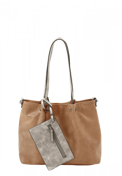 EMILY & NOAH Shopper Bag in Bag Surprise Beige 299708-1790 cognac lightgrey 708