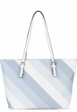 Sina Jo Shopper Jeanette groß Blau 613525 sky-stripes 525