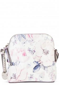Tamaris Handtasche mit Reißverschluss Angelina klein Weiß 30200305 white/blue 305
