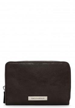 EMILY & NOAH Geldbörse mit Reißverschluss Defne  Braun 62617200 brown 200