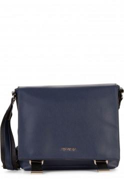 EMILY & NOAH Handtasche mit Überschlag Luna mittel Blau 62262500 blue 500