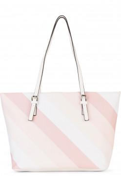 Sina Jo Shopper Jeanette groß Pink 613645 powder-stripes 645