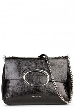 EMILY & NOAH Handtasche mit Überschlag Sarah-Lack Schwarz 61782100 black 100