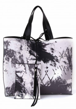 merch mashiah Shopper Claudia  Schwarz 80091108-1790 black/grey 108
