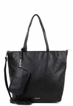 EMILY & NOAH Shopper Bag in Bag Surprise mittel Schwarz 311100 black 100
