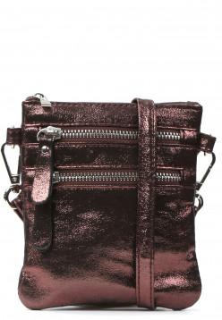 EMILY & NOAH Handtasche mit Reißverschluss Emma Rot 60390695-1790 metallic wine 695