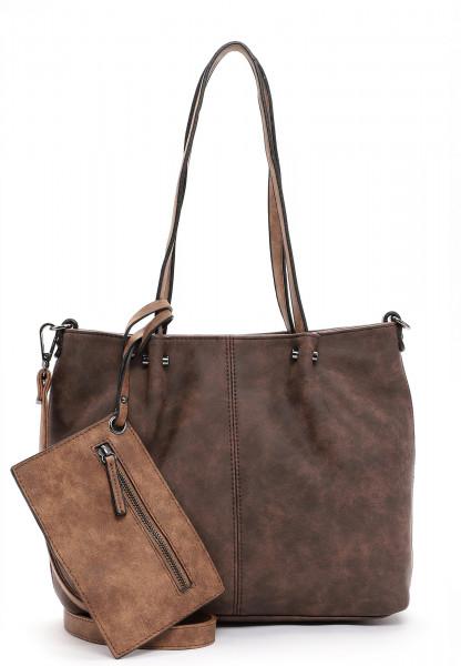 EMILY & NOAH Shopper Bag in Bag Surprise Braun 299207 brown/cognac 207