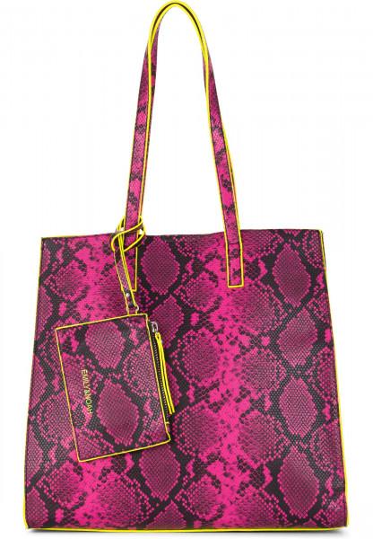 EMILY & NOAH Shopper Lina mittel Schwarz 62020167 black/pink 167