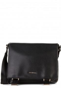EMILY & NOAH Handtasche mit Überschlag Luna mittel Schwarz 62262100 black 100