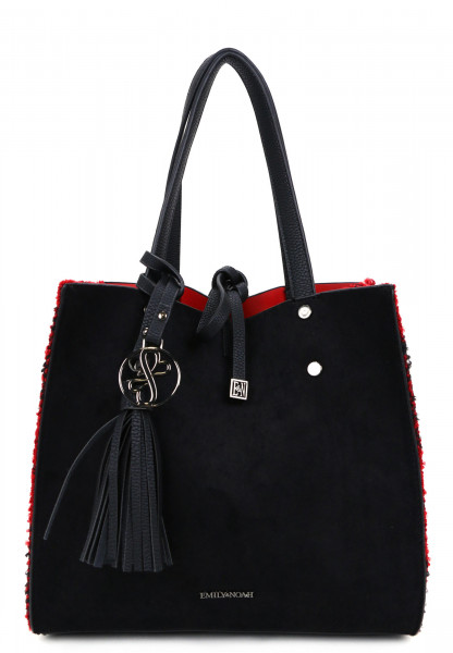 EMILY & NOAH Shopper Denise klein Schwarz 62623106 black/red 106