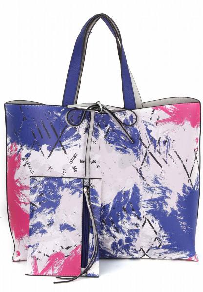 merch mashiah Shopper Claudia  Blau 80091556-1790 royalblue/pink 556