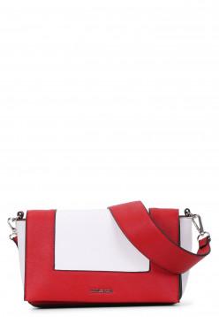 EMILY & NOAH Handtasche mit Überschlag Priska quer Rot 61631600 red 600