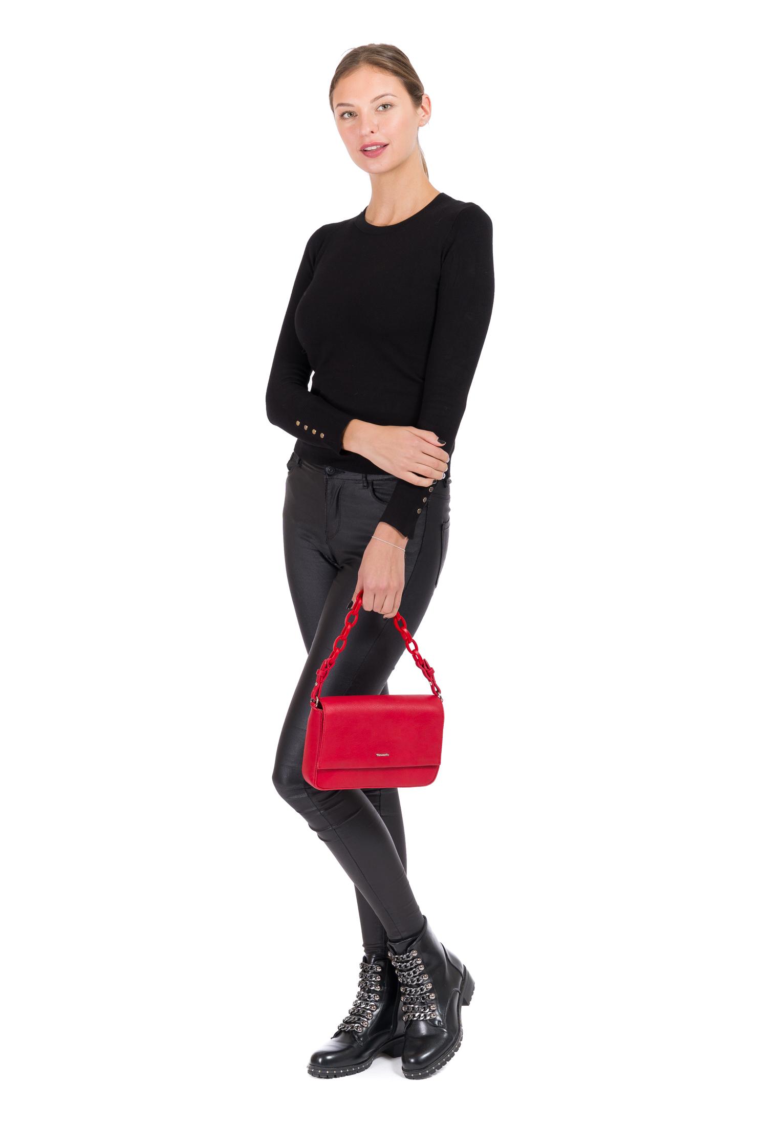 Handtasche mit Überschlag Angela mittel