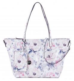 Tamaris Shopper Angelina groß Weiß 30204305 white/blue 305