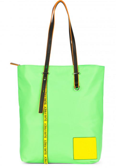 SURI FREY Shopper SURI Black Label FIVE groß Grün 16002974 green/yellow 974