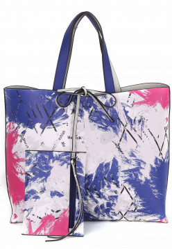 merch mashiah Shopper Claudia  Blau 80091556-1790 royalblue/pink 556