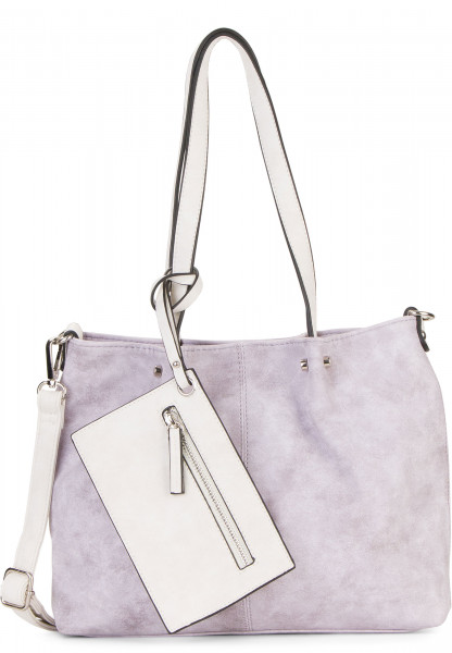 EMILY & NOAH Shopper Bag in Bag Surprise Lila 299623 lightlilac/ecru 623