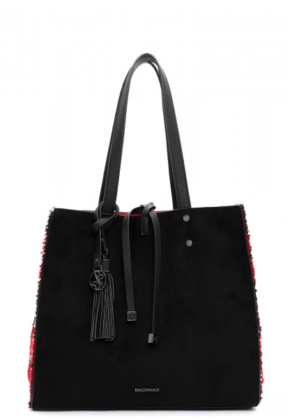 EMILY & NOAH Shopper Denise mittel Schwarz 62624106 black/red 106
